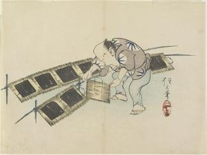Drying Laver, C. 1830 by Hogyoku