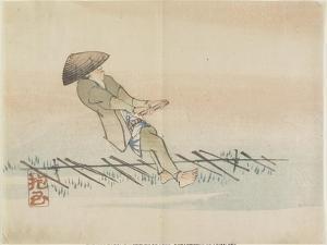 Man Pulling Silk Thread, C. 1830 by Hogyoku