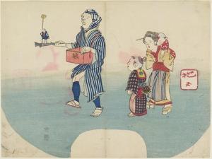 Performer Entertaining Children, 1831 by Hogyoku
