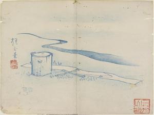 Pounding Silk by Tamagawa River, 1841 by Hogyoku
