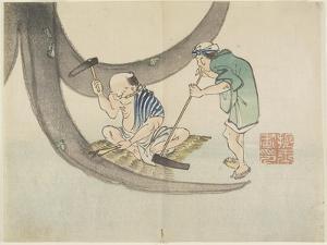 Repairing Boats, C. 1830 by Hogyoku