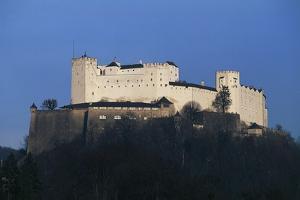 Hohensalzburg Castle, Medieval Fortress Overlooking the City of Salzburg, Austria