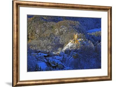 Hohenschwangau Castle near Schwangau, Allgau, Bavaria, Germany, Europe-Hans-Peter Merten-Framed Photographic Print