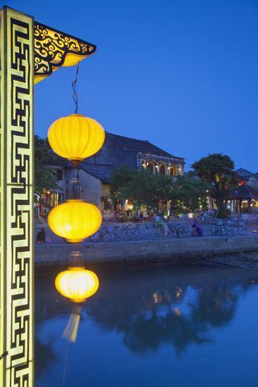 Hoi an at Dusk, Hoi an (Unesco World Heritage Site), Quang Ham, Vietnam-Ian Trower-Photographic Print