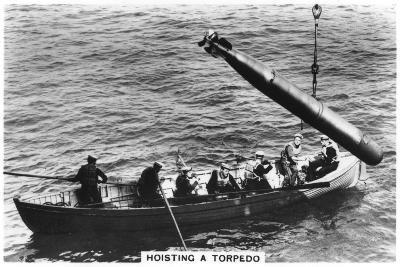 Hoisting a Torpedo, HMS 'Courageous, 1937--Giclee Print