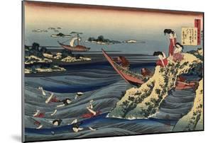 Pearl Divers (Sangi Takamura) by Hokusai Katsushika