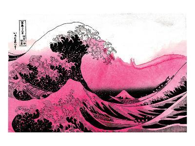 Hokusai - Pink Wave--Art Print