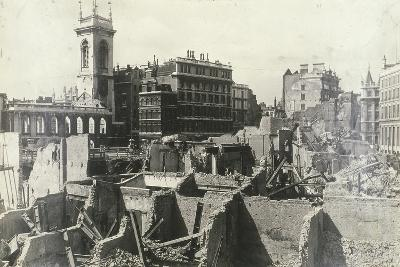 Holborn Viaduct, City of London, Showing Air Raid Damage, C1944--Photographic Print
