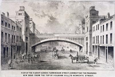 Holborn Viaduct, London, 1869-GS Willis-Giclee Print