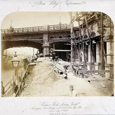 Holborn Viaduct, London, 1869--Giclee Print