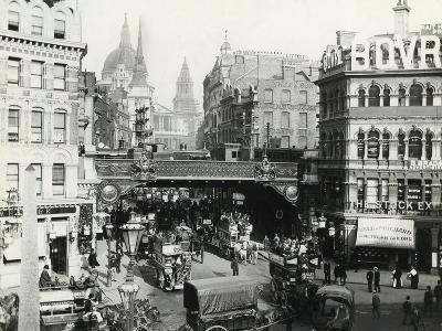 Holborn Viaduct, London, C 1900--Photographic Print
