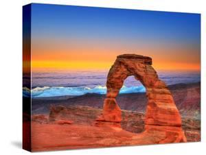 Arches National Park Delicate Arch Sea of Clouds in Moab Utah USA Photo Mount by holbox