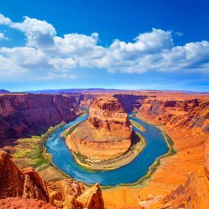 Arizona Horseshoe Bend Meander of Colorado River in Glen Canyon by holbox