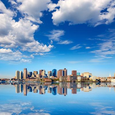 Boston Skyline with River in Sunlight at Massachusetts USA by holbox