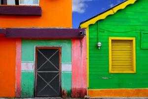 Colorful Caribbean Houses Tropical Vivid Colors Isla Mujeres Mexico by holbox