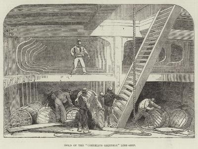 Hold of the Cornelius Grinnell Line-Ship--Giclee Print