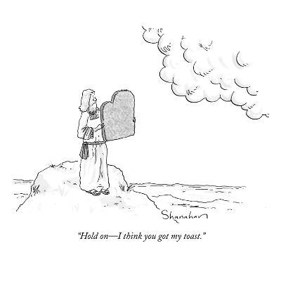 """Hold on?I think you got my toast."" - New Yorker Cartoon-Danny Shanahan-Premium Giclee Print"