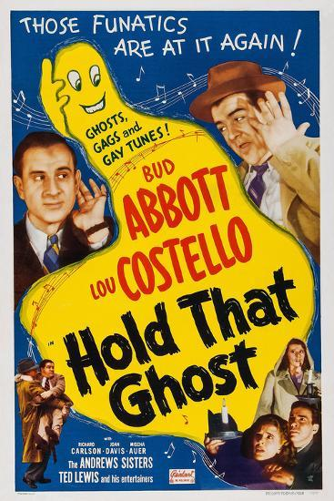 Hold That Ghost, 1941--Art Print
