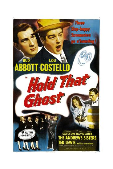 Hold That Ghost, 1941--Giclee Print