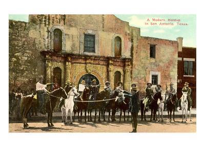 Hold-Up Re-enactment, Alamo, San Antonio, Texas--Art Print