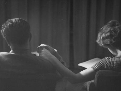 Holding Hands is a Symbol of Happy Marriage-Nina Leen-Photographic Print