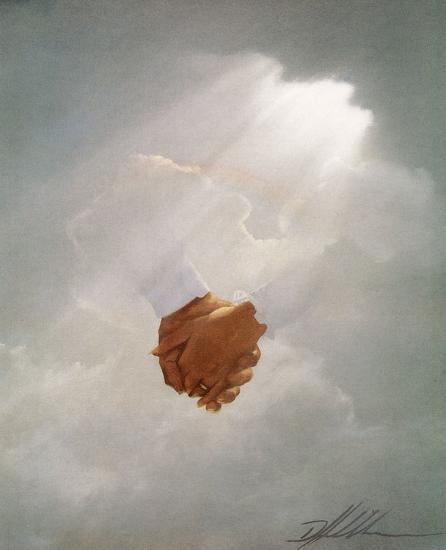 Holding Hands-Danny Hahlbohm-Art Print