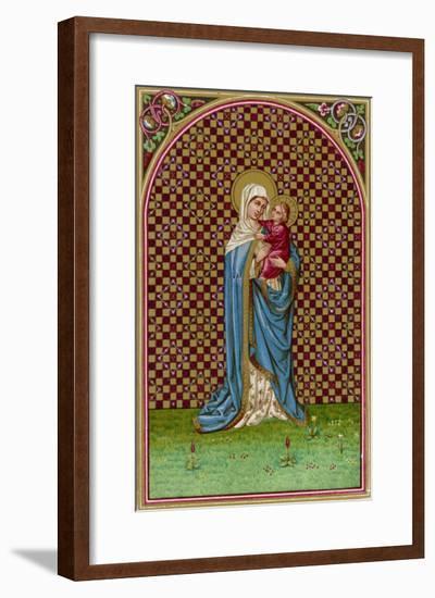 Holding Her Baby--Framed Giclee Print