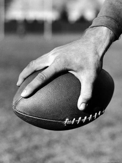 Holding the Football is Player Paul Dekker of Michigan State-Joe Scherschel-Photographic Print