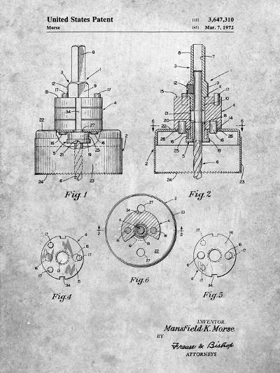 Hole Saw Patent-Cole Borders-Art Print
