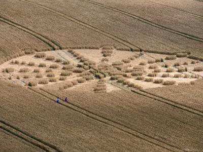Aerial of Crop Circle