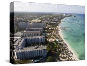 Aerial of Palm Beach and High-Rise Hotels and Resorts by Holger Leue