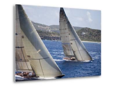 Aerial Photo of J-Class Cutters, Antigua Classic Yacht Regatta, Antigua & Barbuda