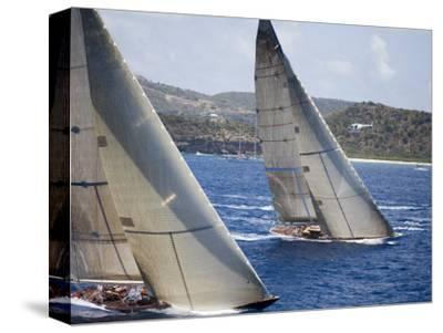 Aerial Photo of J-Class Cutters, Antigua Classic Yacht Regatta, Antigua & Barbuda
