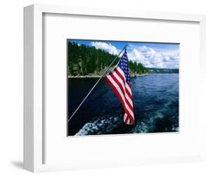 American Flag on Boat, Lake Coeur d'Alene, Coeur d'Alene, Idaho by Holger Leue