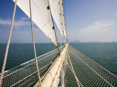 Bowsprit of Star Clipper Cruiseship Star Flyer