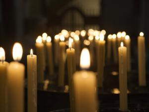 Candles Inside Cathedral Se Do Funchal by Holger Leue