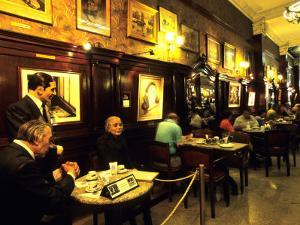 Carlos Gardel & Friends, Model Statues at Gran Cafe Tortoni, Argentina by Holger Leue