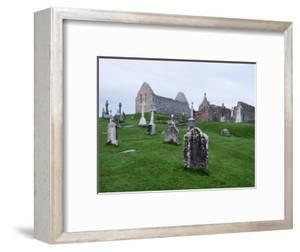 Clonmacnoise Crosses and Temples at Dawn by Holger Leue
