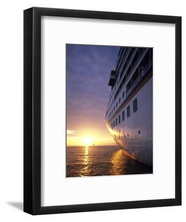 Cruise Ship at Sunset, Reykjavik, Reykjavik, Iceland