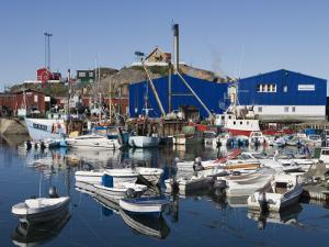Fishing Boats and Royal Greenland Seafood Factory by Holger Leue