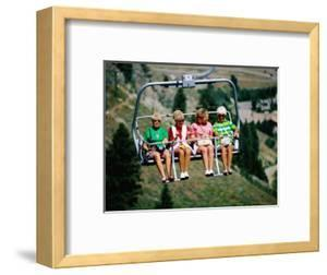 Four Women on Chairlift, Sun Valley, Idaho by Holger Leue