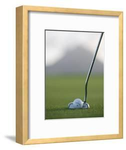 Golf Club and Ball on Green at Le Touessrok Golf Course by Holger Leue