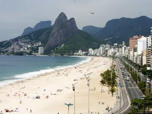 Ipanema Beach from Hotel Fasano Rooftop by Holger Leue