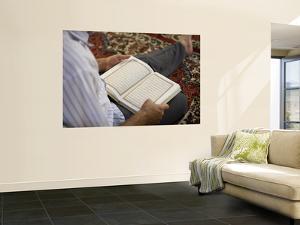 Man Reading Quran, Umayyad Mosque by Holger Leue