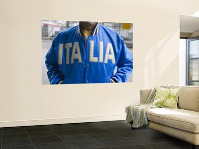 Man Wearing Blue Italia Jacket