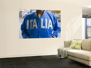 Man Wearing Blue Italia Jacket by Holger Leue