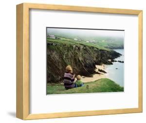 Mother with Son Enjoying Slea Head Beach, Dingle Peninsula, Ireland by Holger Leue