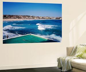 Overhead of Bondi Icebergs Pool and Bondi Beach by Holger Leue