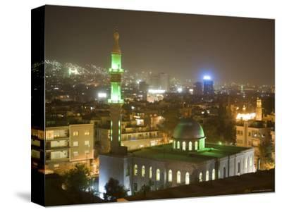 Overhead View of Damascus Skyline at Night from Le Meridien Damascus Hotel