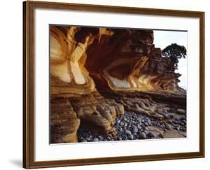 Painted Cliffs, Maria Island National Park, Maria Island, Tasmania, Australia by Holger Leue